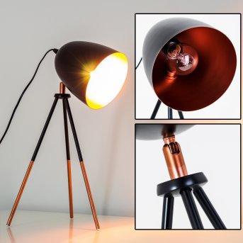 Tischleuchte Montreal Schwarz, Kupferfarben, 1-flammig