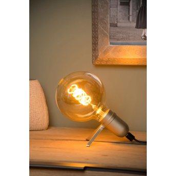 Lucide PUKKI Tischlampe Gold, 1-flammig