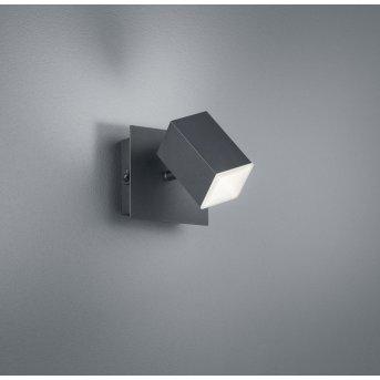 Trio Leuchten LAGOS Wandleuchte LED Schwarz, 1-flammig