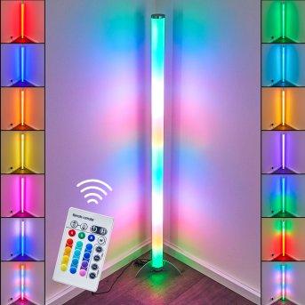 Laugar Stehlampe LED Silber, 1-flammig, Fernbedienung, Farbwechsler