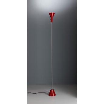 Tecnolumen ES 57 LED Fluter Rot, Chrom, 1-flammig
