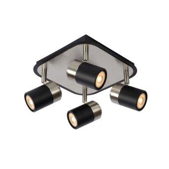 Lucide LENNERT Deckenleuchte LED Schwarz, 4-flammig