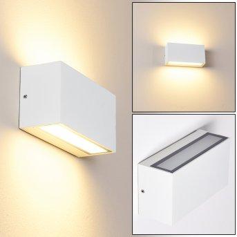Duluth Außenwandleuchte LED Weiß, 1-flammig