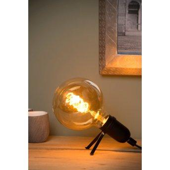 Lucide PUKKI Tischlampe Schwarz, 1-flammig