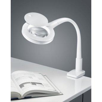 Trio Leuchten LUPO Klemmleuchte LED Weiß, 1-flammig