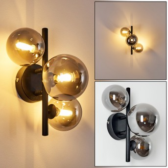 Chariton Wandleuchte LED Schwarz, 3-flammig