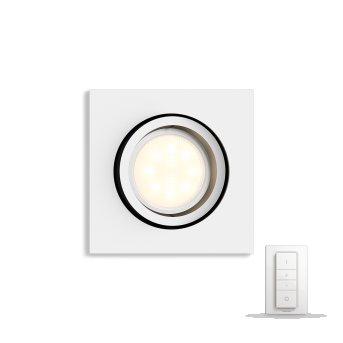 Philips Hue Ambiance White Milliskin Einbauspot Basis-Set Weiß, 1-flammig, Fernbedienung