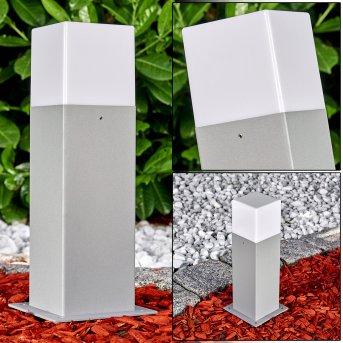 Algier Sockelleuchte LED Grau, 1-flammig