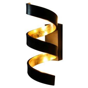 Lutec HELIX Wandleuchte Schwarz, Gold, 3-flammig