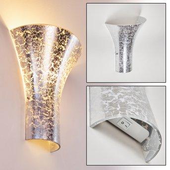 Nerola Wandleuchte Silber, 1-flammig