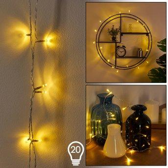 Sondrio Lichterkette LED Weiß, 20-flammig