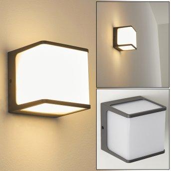 Buckau Außenwandleuchte LED Anthrazit, Weiß, 1-flammig