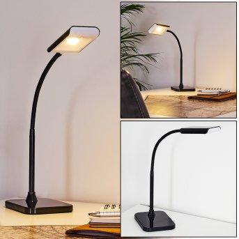 Tischleuchte LED Schwarz, 1-flammig