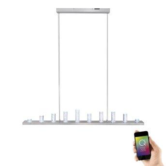 Paul Neuhaus Q-Skyline Pendelleuchte LED Aluminium, 12-flammig, Fernbedienung, Farbwechsler