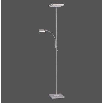 Leuchten Direkt HANS Stehleuchte LED Edelstahl, 2-flammig