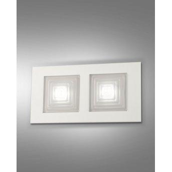 Fabas Luce Formia Wandleuchte LED Weiß, 2-flammig