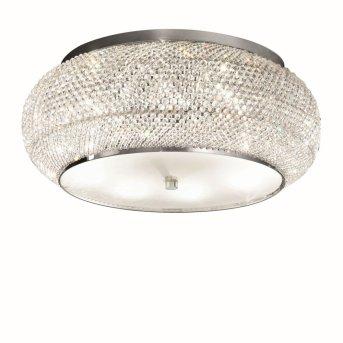Ideal Lux PASHA   Deckenleuchte Chrom, Kristalloptik, 10-flammig