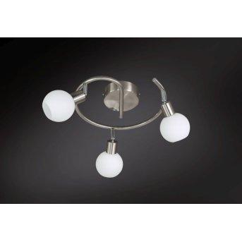 Wofi NOIS Deckenleuchte LED Nickel-Matt, 3-flammig