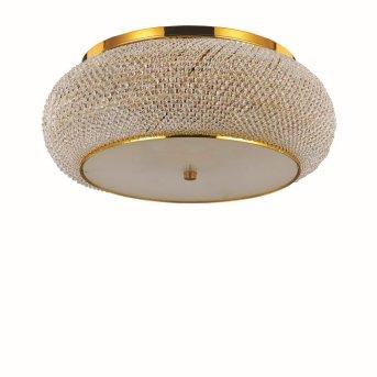 Ideal Lux PASHA   Deckenleuchte Gold, Kristalloptik, 10-flammig