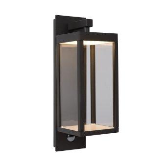 Lucide CLAIRETTE Außenwandleuchte LED Schwarz, Bewegungsmelder
