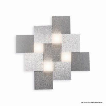 Grossmann CREO Deckenleuchte LED Aluminium, 4-flammig