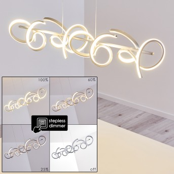 Lavaca Pendelleuchte LED Silber, 4-flammig
