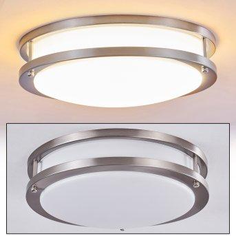 Sora Deckenleuchte LED Nickel-Matt, Weiß, 1-flammig