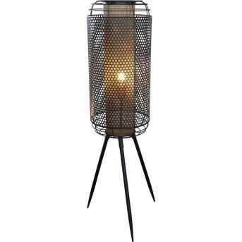 Nino Leuchten DENTON Stehleuchte Schwarz, 1-flammig