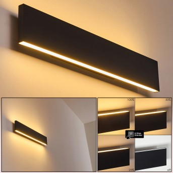 Obion Wandleuchte LED Schwarz, 2-flammig